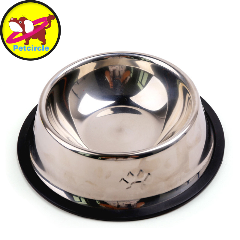 stainless steel metal dog cat food bowl cat dish pet sterile tableware pet feeding and watering supplies - Cat Bowls
