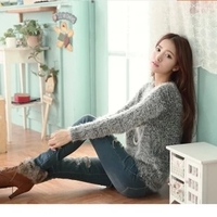 2017 The New Fashion Spring Autumn Winter Big Size Mohair Sweater Round Collar College Breeze Loose