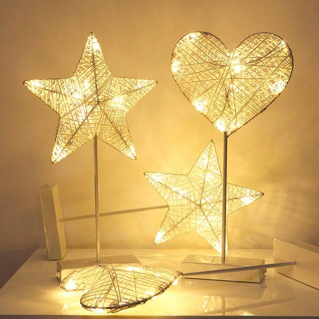 Estrella De Llevó Ratán Hierba La Romántica Del Luz Noche Corazón CdxoerB