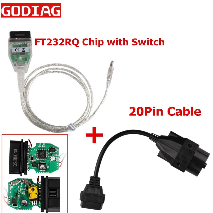 Лучшее качество для BMW INPA K + CAN K CAN INPA с чипом FT232RQ с переключателем для BMW INPA K DCAN USB интерфейс