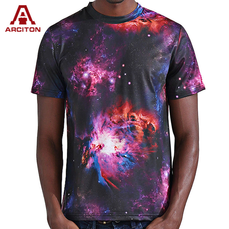 A arciton new fashion men t shirt 3d galaxy universe for Printed t shirts mens fashion