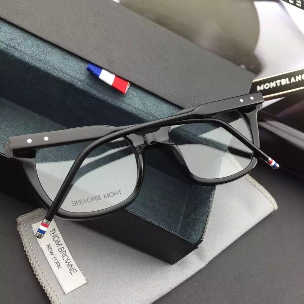0cf8dec4ee0 Sale THOM BROWNE Eyeglasses Frames glasses New York Brand TB 405 A Optical  Frame Oculos De Grau original case High quality-in Eyewear Frames from  Apparel ...