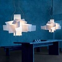 Modern Foscarini Big Bang Stacking White Pendant Chandelier Lighting Art DIY Pandant Lamp Ceiling Lightsfixture 90