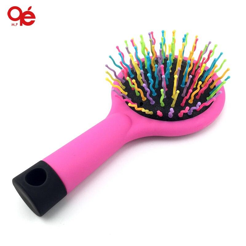 Aliexpress Com Buy Rainbow Volume Hair Brush Magic