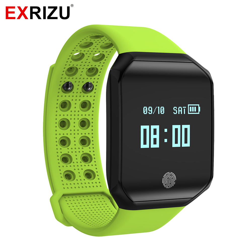 EXRIZU Z66 Bluetooth Smart Band OLED Wristband Support Heart Rate & Blood Pressure Monitor Pedometer Facebook Twitter Messages