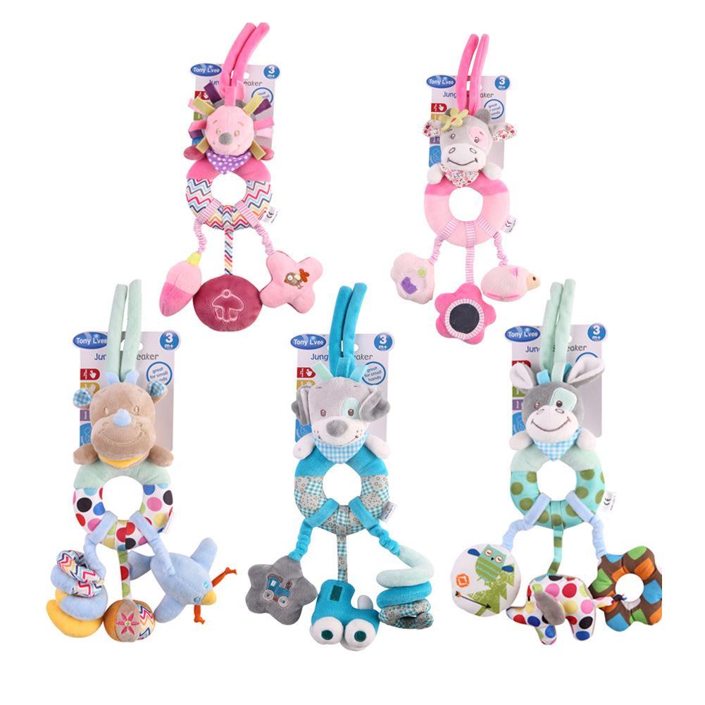 Animal Infants Cradle Hanging Toy Stroller Toys hedgehog donkey Dog Baby Sleeping Hanging Plush Toys Doll creative infants cradle cute rabbit baby music hanging bed safety seat plush toy hand bell multifunctional plush toys