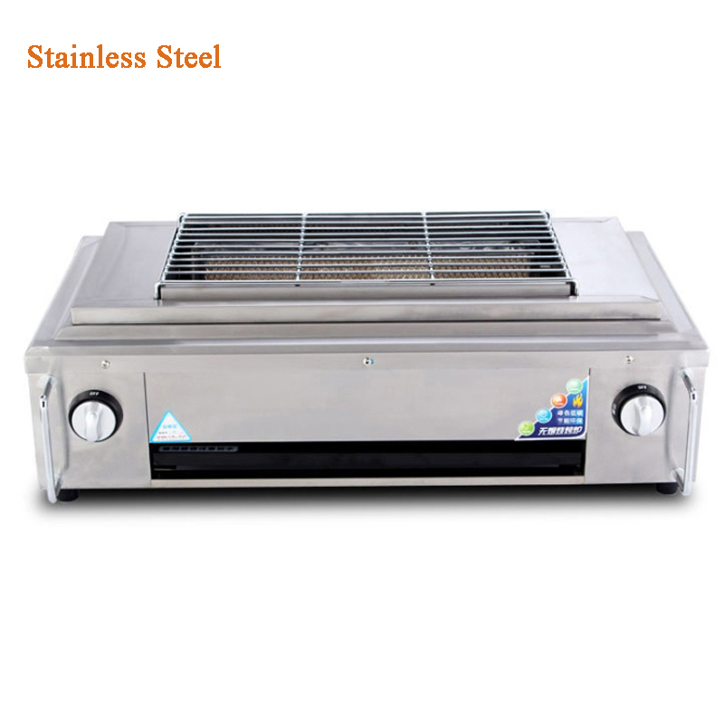 все цены на YE102 outdoor BBQ Infrared gas Grill Smokeless Barbecue LPG Cooking Stove non stick pan portable barbecue oven