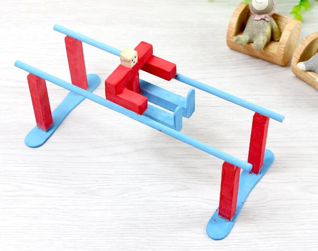 Handmade Wooden Parallel Bars DIY Toy Model Accessories Scientific Experimental Materials Assembly Model Educational Toys