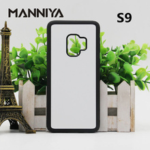 MANNIYA for Samsung Galaxy S9/S9+ Sublimation Blank TPU+PC rubber Case with Aluminum Inserts and Glue 10pcs/lot