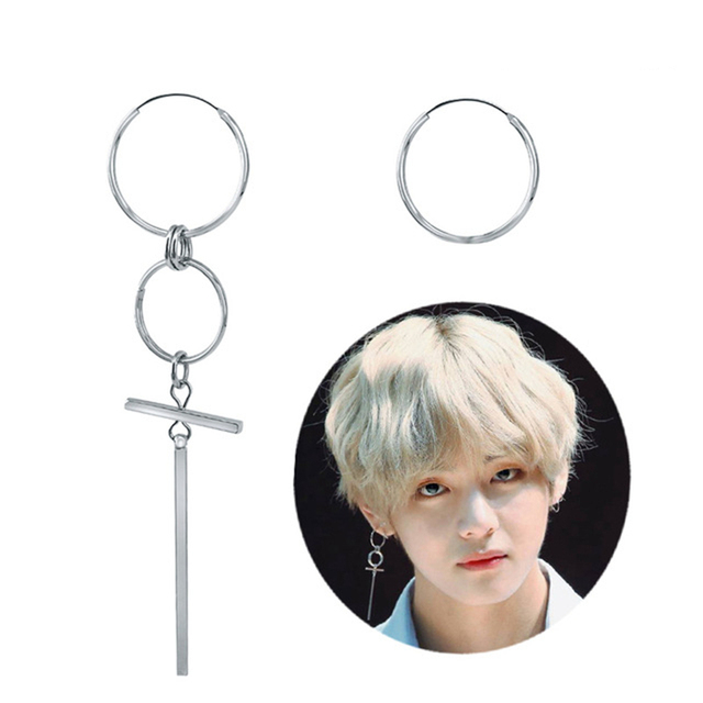 BTS V Cross Style Earrings DNA