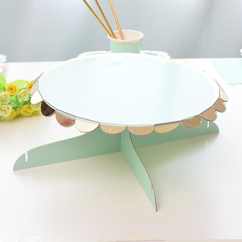 papel sobremesa bolo carrinho coroa cupcake display