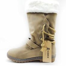 VISMIX Free shipping 2017 New Shoes Women Boots Designer Ladies Winter outdoor keep Warm Fur Boots Waterproof Women's Snow Boots