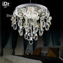 Runde Kristall Pendelleuchte Moderne Kronleuchter Mode Schlafzimmer Wohnzimmer Lampe Kreative Beleuchtung Dia450xH1000mm