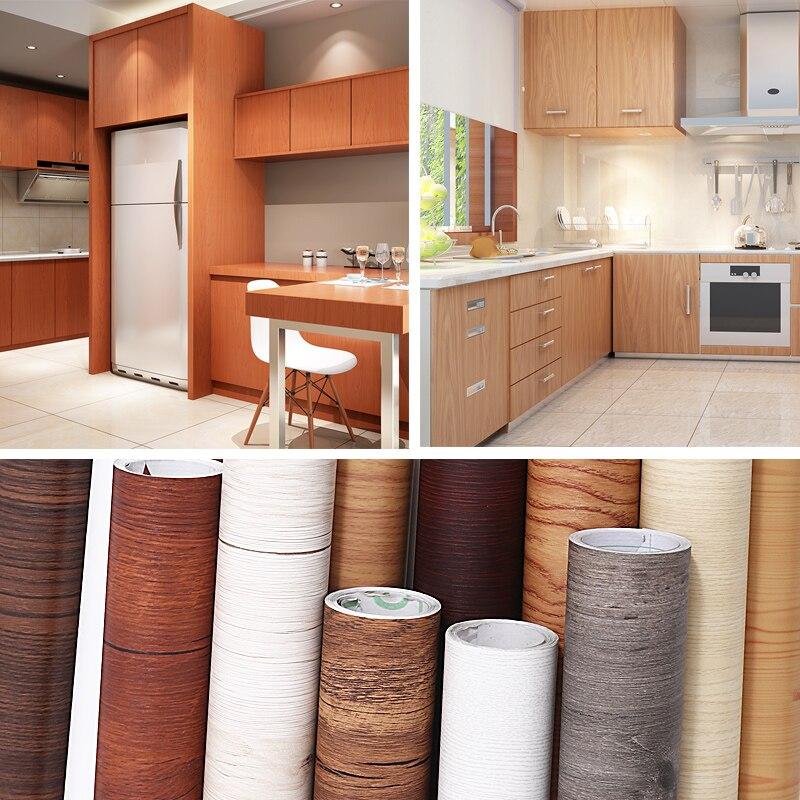 Autocollant bois Grain papier peint armoire porte meubles rénovation autocollants étanche 3D papier peint décor chambre Sticker mural