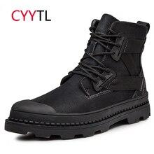 CYYTL/мужские зимние мотоциклетные ботинки; Рабочая защитная обувь; Теплые Ботинки Martin; Zapatos de Hombre; мужские Erkek Bot; военные кроссовки; Martens