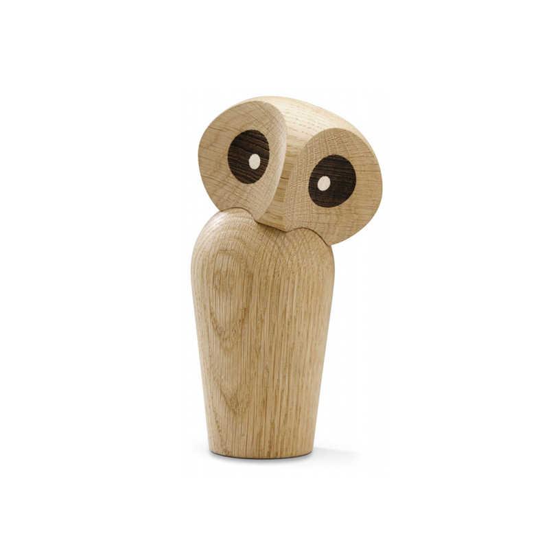 Nordic Madeira Coruja Animal Estátua Ornamentos Pássaro/Pato/Ganso Moda Casa & Decorações da Sala de estar de Madeira Figura Presentes em Grande Venda