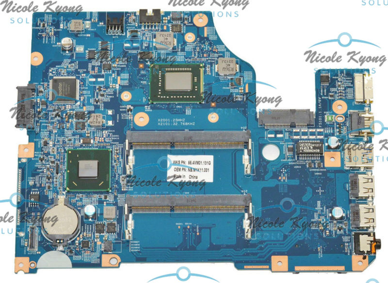 NBM1G11002 48.4VM02.011 11324-1 55.4VM01.151 Celeron 877 CPU HM70 MotherBoard SYSTEM BOARD for Acer Aspire V5-571 V5-431 V5-531 new laptop lcd cable for acer aspire v5 v5 531 v5 571 v5 571g v5 531g v5 471 v5 471g v5 431 p n 50 4vm06 002 50 4vm06 001