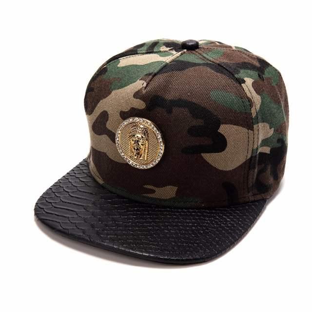 Men Women Golden Hemp Leaf GUN Snapback Hats Gorras Weed Camouflage GANGSTA  Baseball Caps Sports Jesus e62bf4316b40