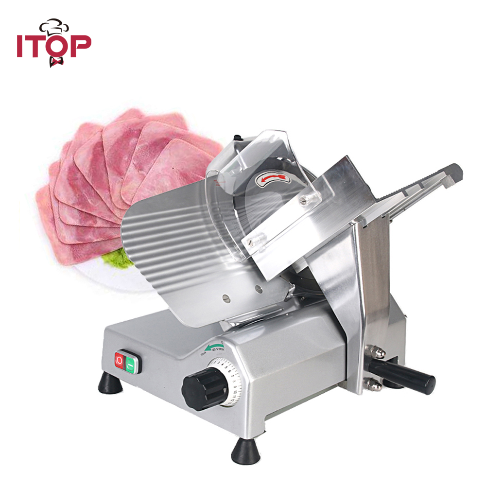 ITOP Commercial Frozen Meat Slicer Electric Semi-automatic Ham Cutter Food Processors Kitchen Tools 110V 220V цена 2017