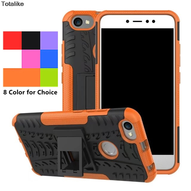 Fashion Shockproof Cover Case PC & TPU Anti-collision Phone Case for Xiaomi Redmi Note 5A (with Rear fingerprint lock hole )
