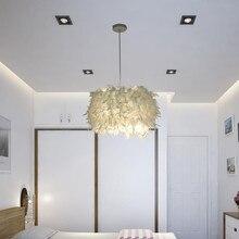 Kolye tüy lambası romantik rüya gibi tüy Droplight yatak odası oturma odası salonu asılı lamba E26/e27 Max 15w