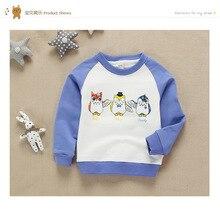 Owl Print Boy Girl Hooded Infant Children Cotton Sweatshirt Kids Unisex Age 2-8Years