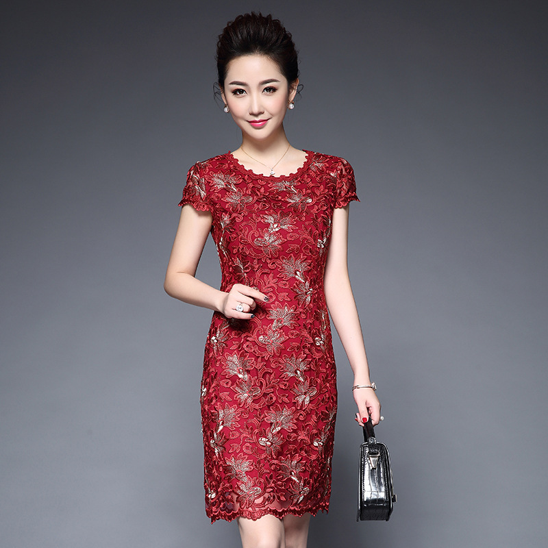 Women 39 s fashion top quality embroidery party dress 2018 casual plus size slim bodycon dress femmes Spring Elegant vintage dress in Dresses from Women 39 s Clothing