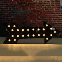 2017 Wholesale Price 20x50x5cm LED Arrow Light LED Lights Black Fairground Style Lamps Sign Electronic Signs