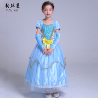 Elsa Dress with Glove Children Cosplay Princess Sleeping Beauty Costume Kids Dresses for Girls Teenage Clothes 3 to 10 Y 8L11A