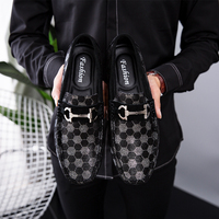 Black Leather Mens Shoes Genuine Leather Men Casual Shoes Luxury Brand 2019 Men's Loafers Moccasins Slip on Shoes Driving Shoes