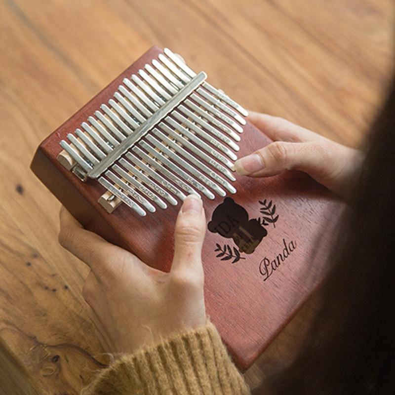 17 Keys Kalimba Thumb Piano High-Quality Wood Mahogany Body Musical Instrument With Learning Book Tune Hammer