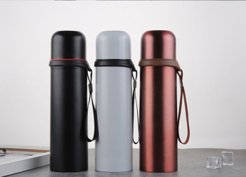 Creative Gift for Business men Large capacity Vacuum Flasks 3 colors Coffee Thermoses Travel Portable Bottle