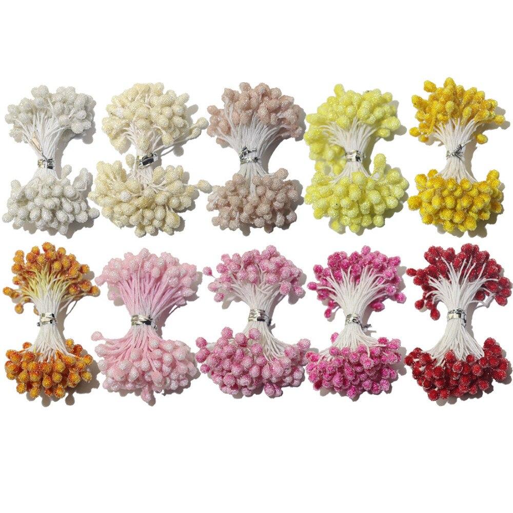 CCINEE 85 шт./лот 5 мм голову цветок Стекло тычинки один Цвет один лот