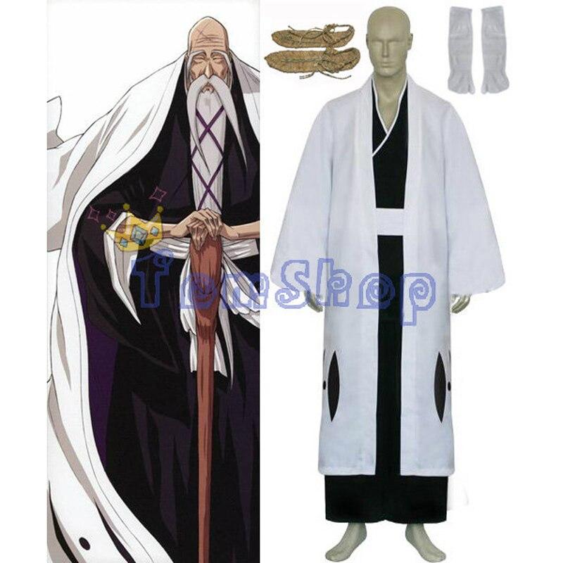 Bleach 1st Division Captain Yamamoto Genryusai Shigekuni Cosplay Kimono Uniform Suit Full Set Men s Costumes