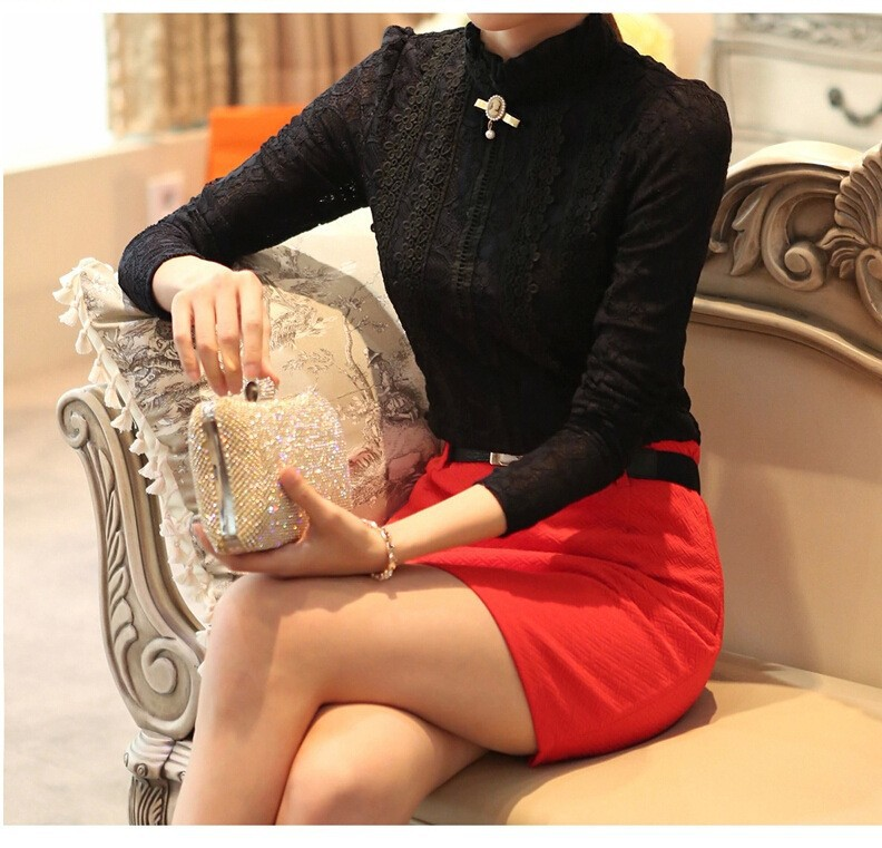 HTB1SYHBGVXXXXc7XVXXq6xXFXXXU - New Lace Shirt Women Clothing Blusas Femininas Blouses