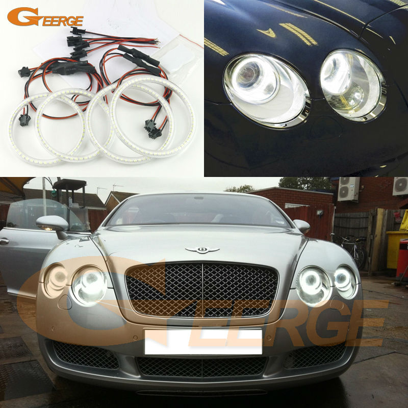For Bentley Continental GT GTC 2003-2010 Excellent Ultra bright 3528 SMD led Angel Eyes kit Halo Ring bentley r type continental 1954 yat ming1 43