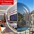 1.61 lentes progresivas fotocromático Gris o marrón gama SPH-6.00 ~ + 5.50 Max CLY-4.00 lentes ópticas para gafas