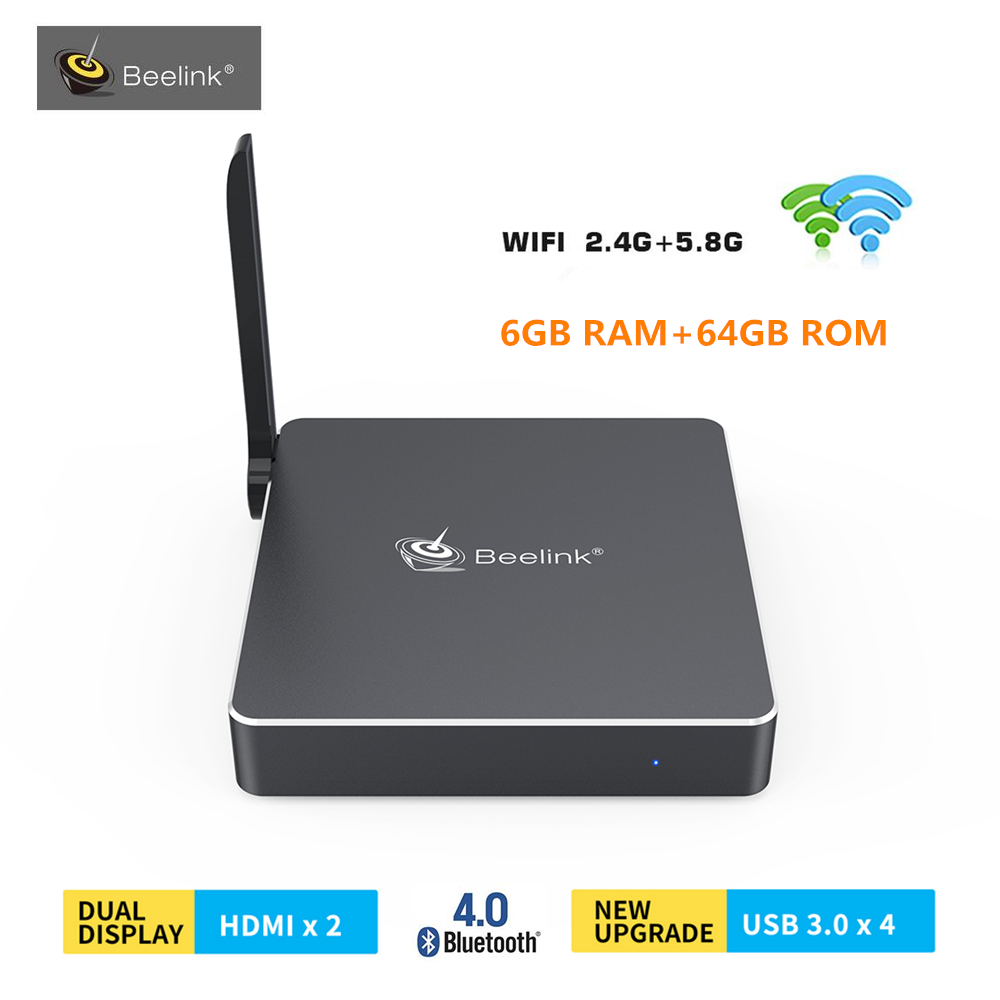 Beelink AP34 Pro Mini PC Windows 10 Intel Apollo Lake N3450 6GB RAM 64GB ROM TV Box 2.4G/5.8G WiFi BT4.0 1000Mbps Media Player