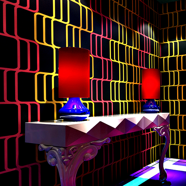 Fashion Trends Wallpaper Bedroom Reflective Wallpapers 3d Stereo Flash Wall Cloth Bar Hotels Living