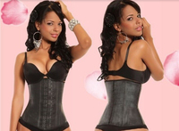 Ann Cherry style Body Shaper Hourglass thicken style waist control corset XS~3XL Genuine 100% Real Latex waist slimming corsets
