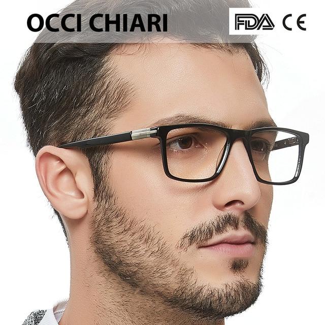 d736079b2613 OCCI CHIARI Fashion Eyeglasses For Men Brand Designer Spring Hinge Eyewear  Glasses Frame Classic Square Metal Decorate W-CAPO