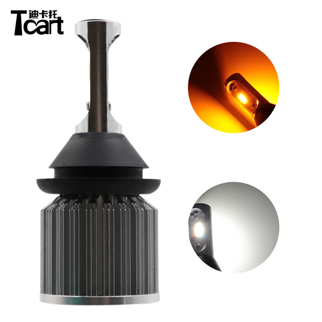 Tcart 30W dual color Turn signal light&DRL daytime running light T20 WY21W 7440 Py21W BAU15S BA15S 3157 3457 7443 7440 car light