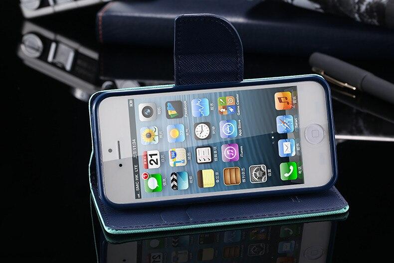 Podwójny kolor klapki skóra telefon torba case dla iphone 6 7 6 s plus 5 5S se gniazda kart + stojak kabura pokrowiec case dla iphone 7 6 6 s 49