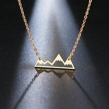 Ожерелье из нержавеющей стали DOTIFI, ожерелье с подвеской в виде горного вершины, снежное горное ожерелье для пеших прогулок, путешествий, гор