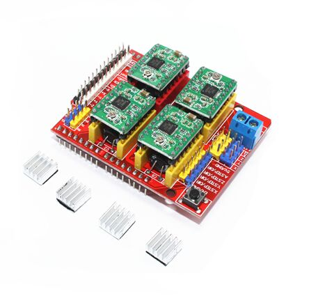New cnc shield v3 engraving machine / 3D Printer / + 4pcs A4988 driver expansion board ...