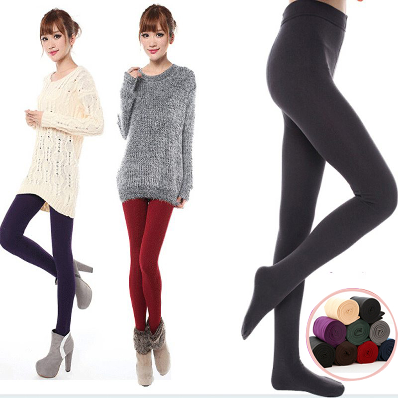 2019 New Autumn / Winter Women Tights Plus Velvet Warm Good Elastic Slim's  Woman's Stockings For 40-80 Kg