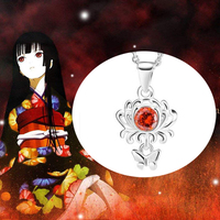 Hot Anime Hell Girl Necklace 925 Sterling Silver Material Pendant Jewelry Gift High Quality