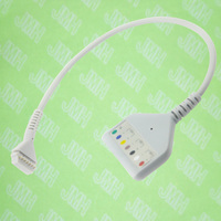 Compatible with Burdick 92513 Holter ECG Machine the 175 1546 00 cable,DIN 7 lead holter trunk cable,AHA.