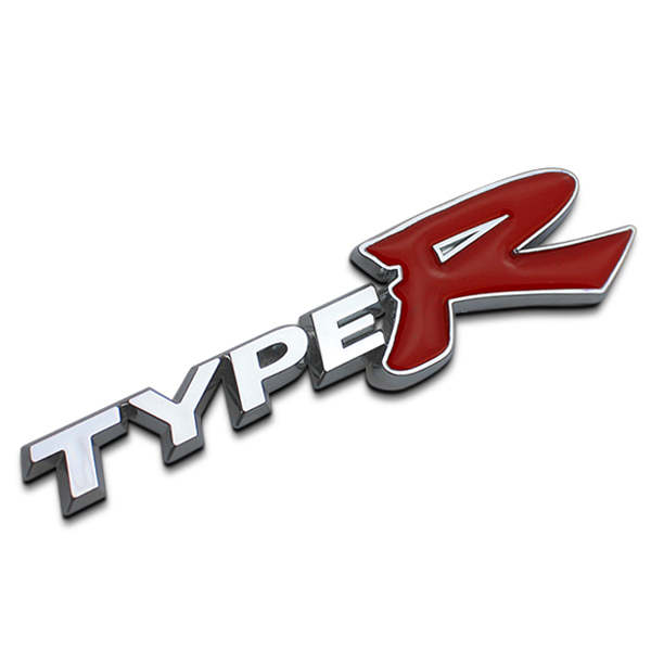 3d typer type r racing emblem badge logo decal sticker stickers types type s metal front grill grille badge emblem for honda kia in car stickers from