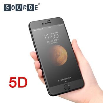 a7766d97864 Haitiano mate 5D vidrio templado para iphone 7 8 plus Protector de pantalla  completo 9 H para iphone 6 Anti- huella digital para iphone 6s